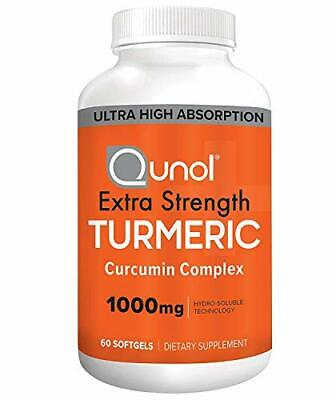 Turmeric Curcumin Softgels, Qunol with Ultra High Absorption 1000mg, Joint Suppo