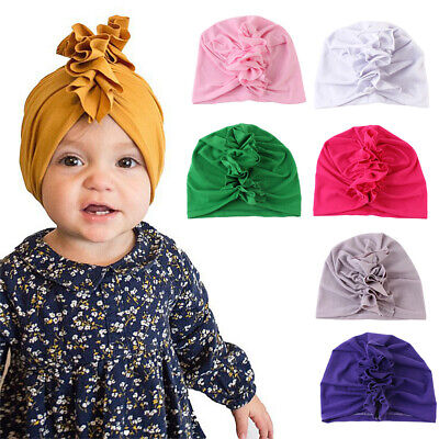 Girls Kids Baby Summer Toddler Outdoor Floral Bucket Hat Knotted Sun Cap Novelty