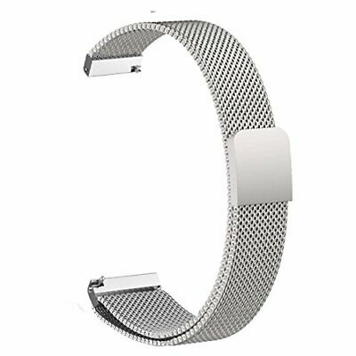 For Pebble Time Round 14mm Watch Band, ViCRiOR Quick Release Milanese Loop Stain