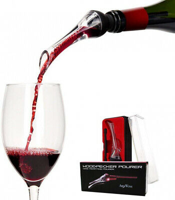 Luxury Red Wine Aerating/Pourer Instant Decanter Spout (Woodpecker) Gift Box Set