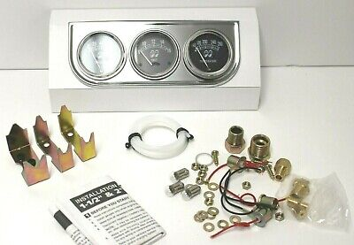 MOONEYES Equipped 3 Gauge Set HOT RODS CUSTOMS RAT RODS VW CARS TRUCKS
