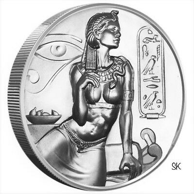 Egyptian Gods Series Cleopatra Ultra High Relief 2 oz Silver Round