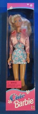 Chic Barbie In Blue Flowered Dress   - 1996 Mattel New In Box