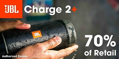 JBL Charge 2 Plus Splashproof Bluetooth Speaker Black Charge2+ Authorized Dealer