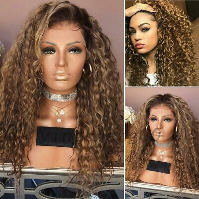Women Ladies Afro Long Kinky Curly Hair Wavy Wigs Sexy Lace Front Wig Party Wig