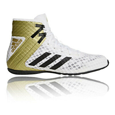 adidas Mens Speedex 16.1 Boxing Shoes Gold White Sports Breathable Lightweight