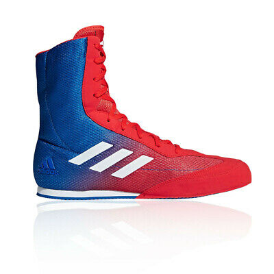 adidas Mens Box Hog Plus Boxing Shoes Blue Red Sports Breathable Lightweight