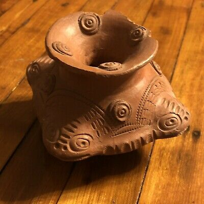 Pre Columbian South America Clay Pottery Ancient Artifact Antiquity Zoomorphic