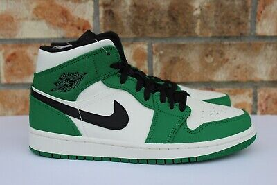0c9a4576dd9 NIKE AIR JORDAN 1 Mid SE Pine Green White Black 852542-301 GS   Men ...