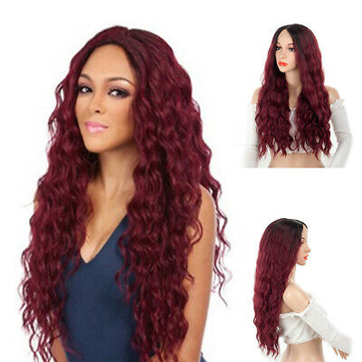 Fashion Hot Girl Long Synthetic Curly Hair Women Wavy Cosplay Costume Wig