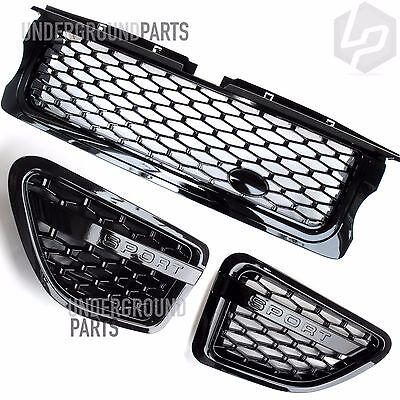 Range Rover Sport 05-09 Autobiography Edition All Black Front Grille Side Vents