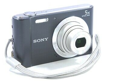 Sony Cyber-shot DSC-W800 SteadyShot 20.1MP 5x Zoom Digital Camera - Black