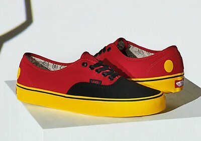 81f941e096b NIB Vans Limited Disney 90thAnniversary Authentic Mickey  Red Yellow  VN0A38EMUK9