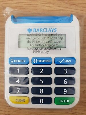BARCLAYS Pinsentry Black Latest Security Online Banking Bank Card Pin Reader NEW