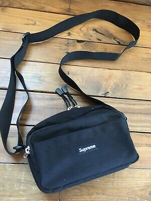 RARE SUPREME SS15 Black Shoulder Bag Box Logo - $140 00 | PicClick