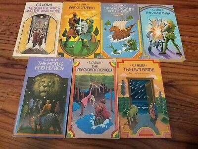 Vintage Chronicles Narnia C S Lewis Collier Box Set 1970s Fantasy Rare Books 1-7
