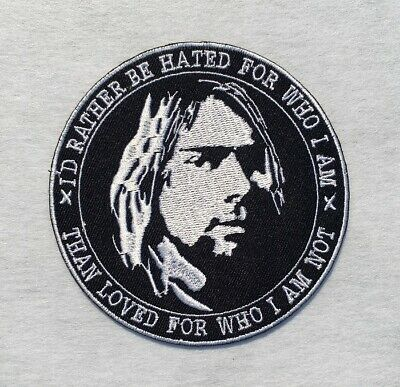 Nirvana Kurt Cobain Quotes Rock Band Grunge Embroidered Iron on / Sew on Patch