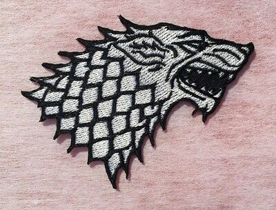 Stark Direwolf Sigil Winter is Coming Game of Thrones Embroidered Iron On Patch