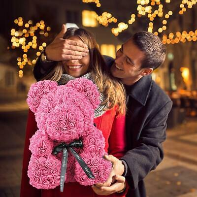 Bear Lovely Big Pink Rose Flower Bear Doll Toys Creative Birthday Party Gifts