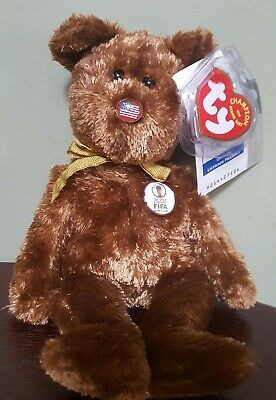 1e5ffaed4fc RETIRED TY BEANIE Baby The Champion Bear USA 2002 FIFA World Cup ...