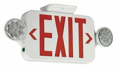 Exit Sign with Emergency Lights, 3.56W