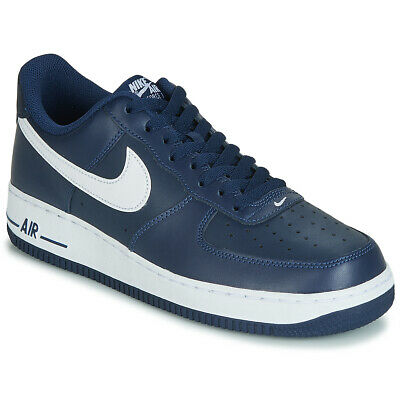 new concept 1b8d8 23e23 Nike Sneakers uomo AIR FORCE 1 07 Blu Cuoio 2163897