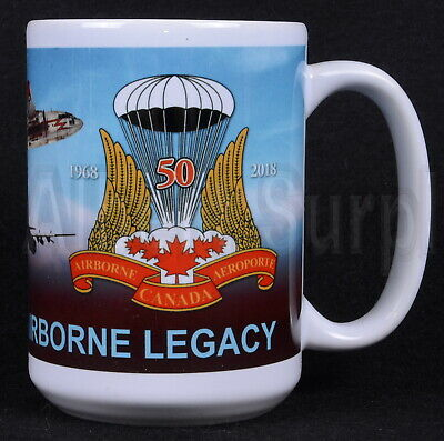 Canadian Airborne Paratrooper Coffee Mug - New & Limited - 432Jd