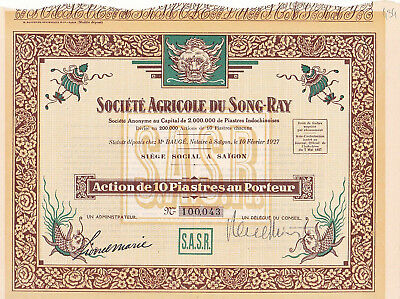 Indochine / Saigon / Societe Agricole Du Song - Ray