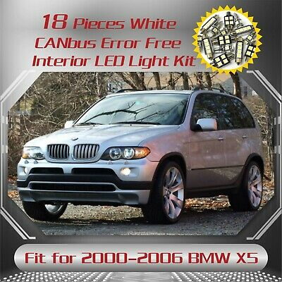 18Pc CANbus Erroe Free Super White 6000K Interior LED Kit for 2000-2006 BMW X5