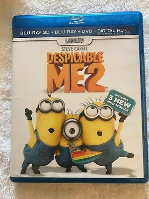 """Despicable Me 2     (Blu-ray,Dvd,3D,)      """"Free Shipping """"   110"""