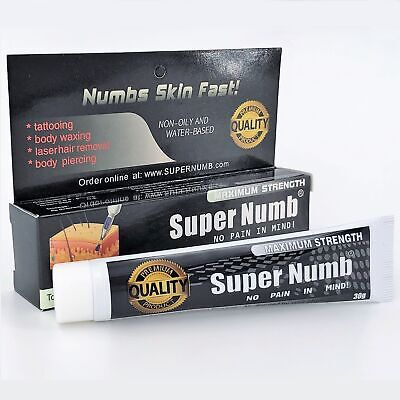 30G SUPER NUMB® Skin Numbing Cream Anesthetic Tattooing Piercing ...
