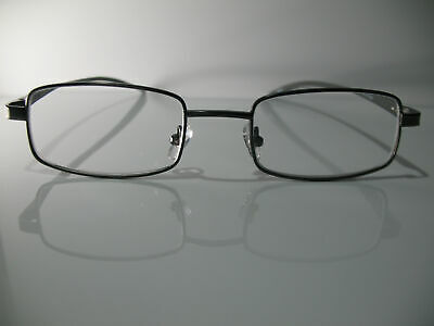 38e7ee27686 Foster Grant Alumineyes Rectangular Gunmetal Gray Reading Glasses 1.75 2.00