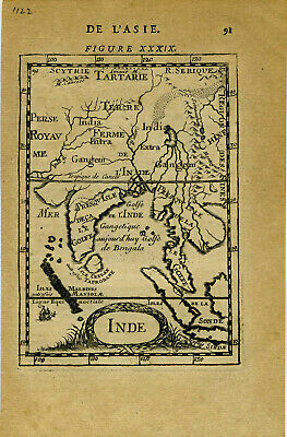 1683 Genuine Antique map India, Ceylon, SE Asia, Ganges River. by A.M. Mallet