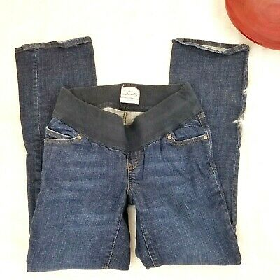 daf4941a6b5a4 Old Navy Womens Maternity Jeans Size 5 Dark Blue Low Rise Boot Cut Stretch  o975