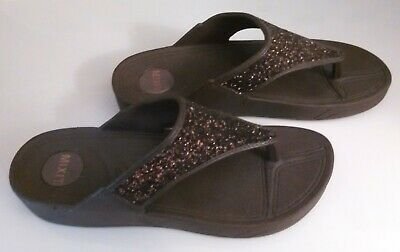 f7135008e733 MIXIT (JCPENNEY) WOMEN S Size 10 Brown Sparkle Wedge Sandal -  12.99 ...
