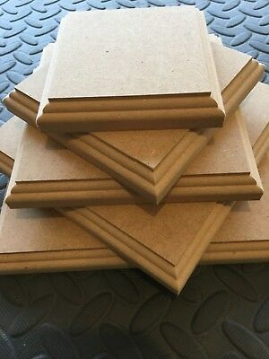 WOODEN PLAQUES Rectangles 18mm MDF blank signs plinths stands Top Quality MDF