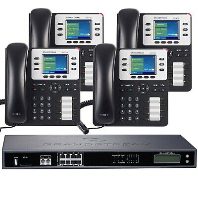 Business Phone System by Grandstream: 8 Line Enhanced Package with IP Phones