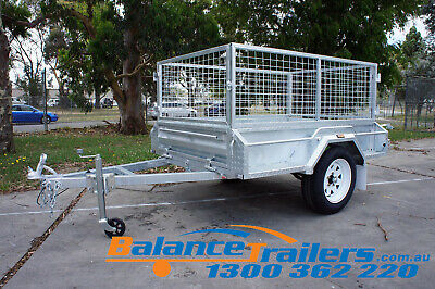 5.7x4 HOTDIP GALVANISED FULLY WELDED TIPPER TRAILER WITH 600mm REMOVEABLE CAGE