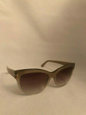 21299f61a68 Tom Ford Lily TF 430 59G Beige Gradient Plastic Sunglasses Brown Gradient  Lens
