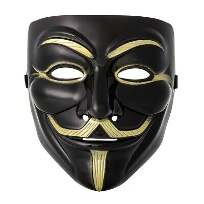1-10 Guy Fawkes Anonymous Face Masks Hacker V For Vendetta Fancy Dress Wholesale