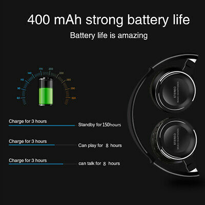 Wireless Headphones Bluetooth Headset DSP Noise Cancelling With Microphone E3Q2