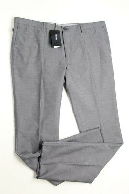 eb1f57a4 $195 Hugo Boss Stanino Slim Fit casual pants Size 40 Grey End on End Cotton  NEW