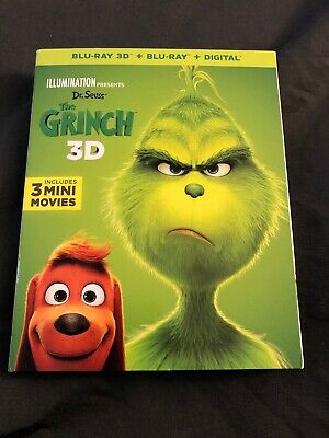 Dr. Seuss The Grinch 2018 2D Blu Ray+ Digital With Slipcover