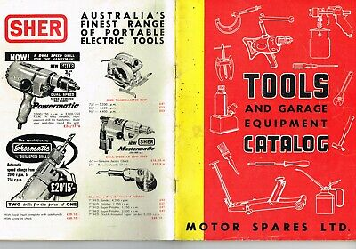 Vintage farm machinery catalogue TOOLS AND GARAGE EQUIPMENT