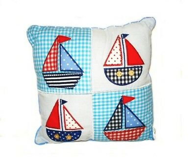 4 Boats Decorative Cushion Baby Nursery