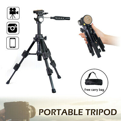 Portable Mini Table Top Tripod Stand 360° Rotation for DSLR Camera w/ Carry Bag