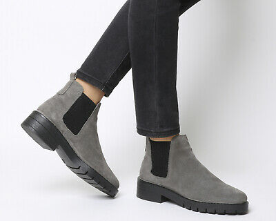 9804a365e78 Womens Office Grey Suede Elasticated Ankle Boots Size UK 4  Ex-Display