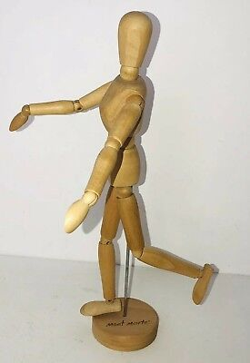 WOODEN MANIKIN FIGURES Jointed Model Painting Artist Drawing