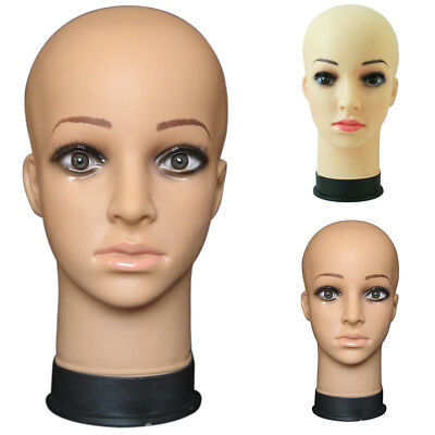 KF_ Female Pro Makeup Cosmetology Bald Mannequin Head PVC For Making Wigs Heal
