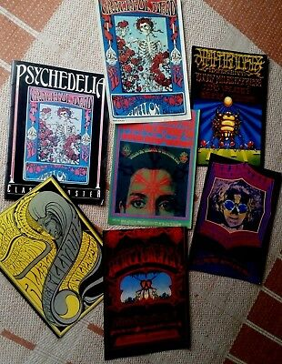 PSYCHEDELIC CLASSIC POSTER SET Fillmore Avalon Ballroom Grateful Dead The Doors